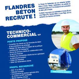 Flandres Béton Offre d'emploi Technico Commercial
